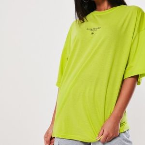 Neon green oversized shirt